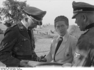 Scholtz-Klink mit SS-Chef Heinrich Himmer / Foto: Bundesarchiv/CC-BY-SA-3.0-DE