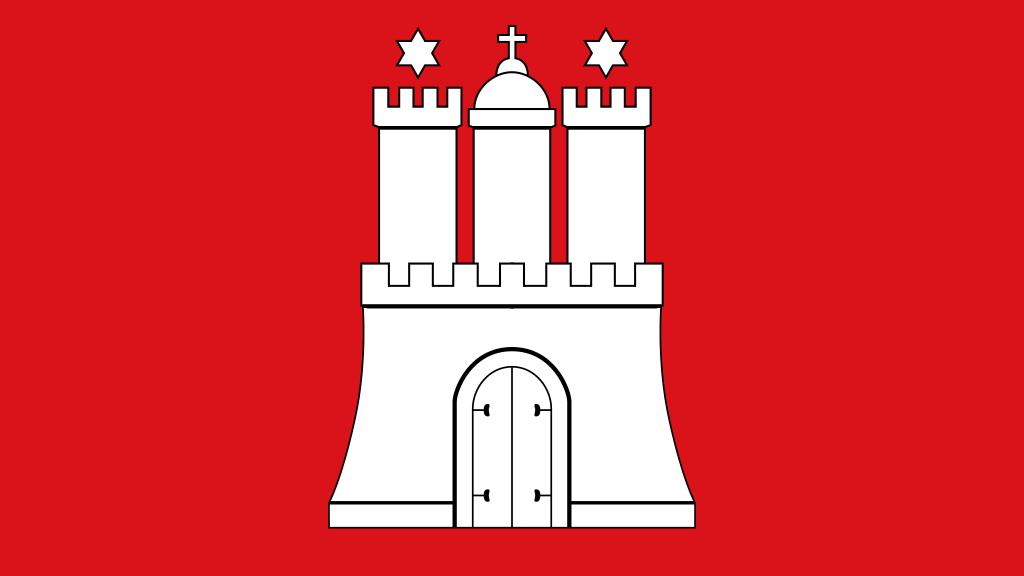Flagge Hamburg Hammaburg