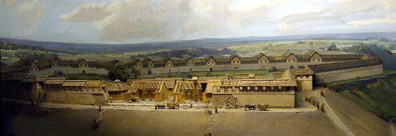 Die Heuneburg im 6. Jahrhundert v.Chr. / Foto: LepoRello (Wikipedia) / CC-BY-SA-3.0