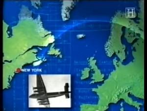 """Screenshot auf dem """"History-Channel""""-Video: So weit soll die Ju 390 gekommen sein"""