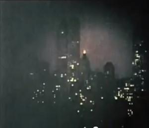 Angebliche Aufnahme der New Yorker Skyline durch ein deutsches U-Boot / Screenshot YouTube