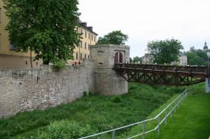 Schloss Moritzburg Zeitz: Teile der alten Befestigungen sind noch vorhanden / Foto: Mewes/gemeinfrei