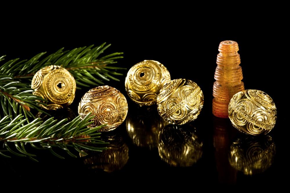 Grabbeigabe für die Fürstin: Keltische Goldkugeln / Foto: Regierungspräsidium Stuttgart