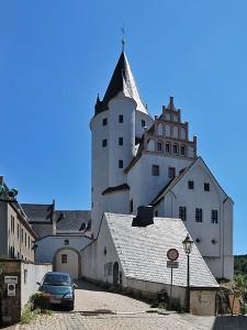 Schloss Schwarzenberg: Bergfried und Tor / Foto: Wikipedia / Harke / CC BY-SA 3.0