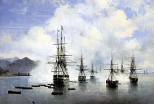 Russische Landung in Sotschi 1839 / Bild: Wikipedia/Samara Art Museum/gemeinfrei