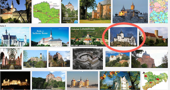 Google-Bildersuche: Treffer bei Schloss Schwarzenberg