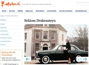 Holland.com zeigt alte Fotos von Beatrix vor Drakensteyn / Foto: Screenshot