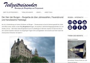 Ein Interview mit dem Burgerbe-Blog... Screenshot