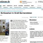 Schloss Groß Germersleben verkauft: Rechter Spuk zu Ende