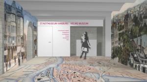So soll die Ausstellung im Keller von Schloss Harburg aussehen / Grafik: Helms Museum