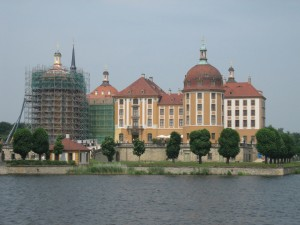 Blick auf Schloss Moritzburg