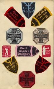 """""""Gott strafe England"""": Deutsche Propaganda-Sticker im Ersten Weltkrieg / gemeinfrei"""