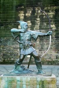 Robin-Hood-Statue vor Nottingham Castle / Foto: Wikipedia / Olaf1541 / CC-BY-SA-3.0