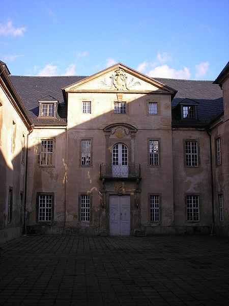 Innenhof von Schloss Crossen