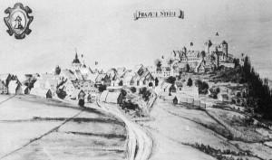 Frauenstein mit Burg und Schloss 1720 / Bild: Wikipedia / Rosenlöcher