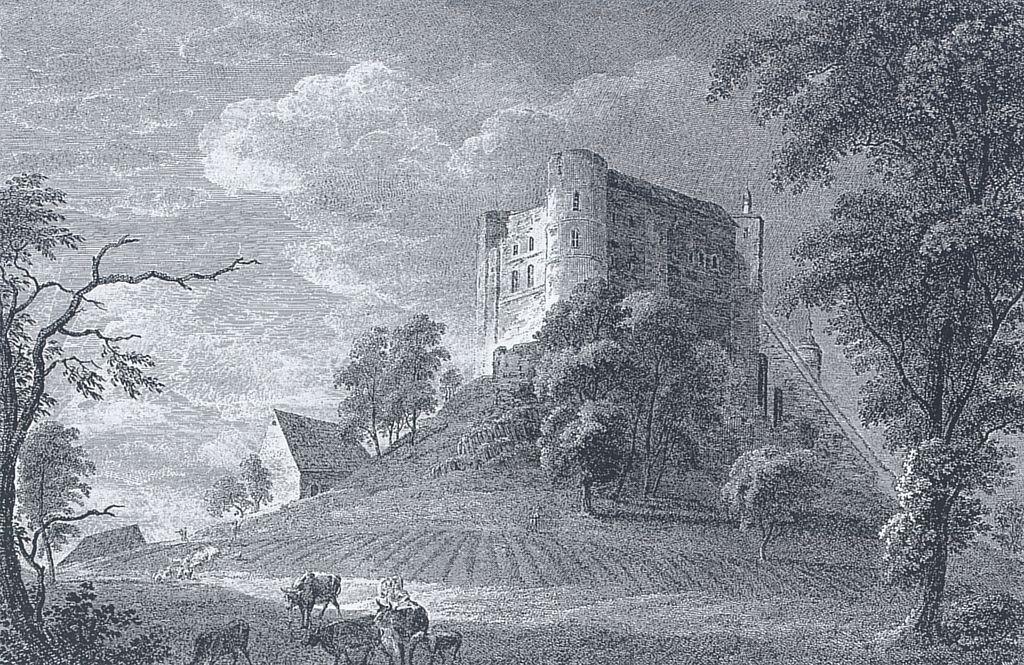 Burg Stolpen 1792: Auch 30 nach der Haft der Cosel noch ein trister Ort / Bild: gemeinfrei