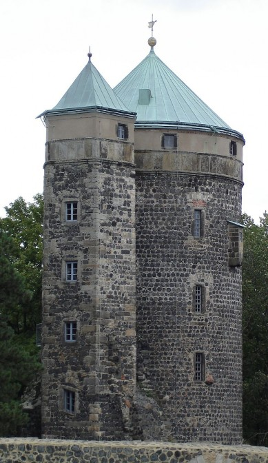 Der Coselturm auf Burg Stolpen / Foto: Wikipedia / Thomas Henkel Hen.th / CC-BY-SA 3.0