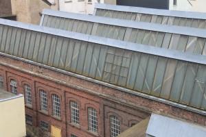 Die Dächer der Shed-Hallen