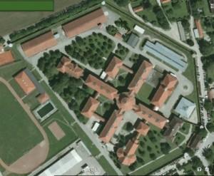 Luftbild der JVA Landsberg / Bild: Google Earth