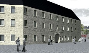 So soll der Neubau auf dem Schlossgelände aussehen / Grafik: Stadt Plauen