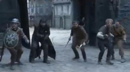 Robin Hood und seine Mannen in Nottingham Castle (BBC 2010) Bild: Screenshot