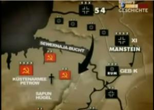 Mansteins Flankenstoß über die Svernaja-Bucht / Bild: Screenshot Youtube