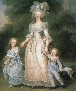 Marie Antoinette mit ihren Kindern, links ihre älteste Tochter Marie Thérèse. Foto:Wikipedia/Musée de France