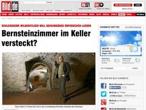 """Das kommt davon, wenn man die """"Bild""""-Zeitung zum Schlossrundgang einlädt / Foto: Screenshot"""