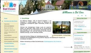 In Bad Essen ist man stolz auf Burg Wittlage / Foot: Screenshot