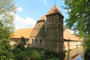 Die Vorburg von Burg Hülshoff