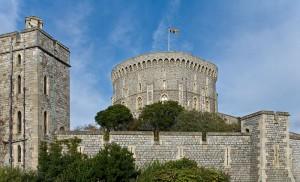 Der Round Tower von Windsor Castle steht an der Stelle des normannischen Bergfrieds aus Holz / Foto. Wikipedia / Diliff / CC BY 3.0