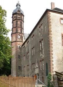 Schloss Erichsburg mit dem prägnanten Treppenturm / gemeinfrei