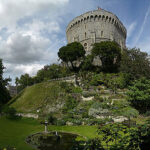 Round Tower von Windsor Castle: Illusion von Mittelalter
