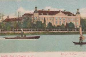 Schloss Schwedt, Postkarte um 1905 / gemeinfrei