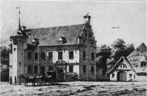 Das Herrenhaus Hoyerwort 1864 / Bild: gemeinfrei