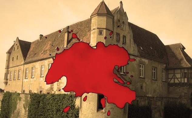 Auf vielen Burgen und Schlösser gibt es Geschichten von geheimnisvollen Blutflecken, die sich nicht entfernen lassen... Bild: Burgerbe.de