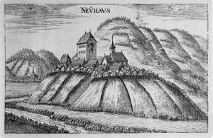 So sah die Burg um 1670 aus / Kupferstich von Georg Matthäus Vischer: gemeinfrei