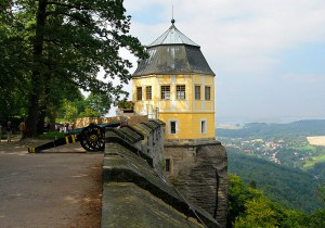 Blick von der sächsischen Festung Königstein / Foto: Wikipedia/Nikater/gemeinfrei