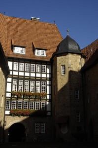 Der Innenhof von Schloss Spangenberg / Foto: Public Domain
