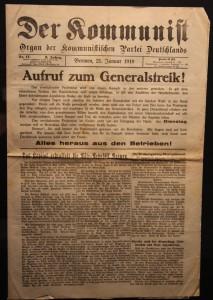 Am Ende war der Kaiser weg. Streikaufruf von Januar 1919