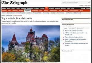 Ein Artikel des Telegraph berichtet über die Verkaufsabsichten der Habsburger / Bild: Screenshot