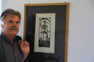 Künstler Georg Opdenberg zeigt 30 Bilder und Installation auf Burg Linn in Krefeld. Foto: Stadt Krefeld, Presse und Kommunikation
