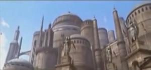 Der Film-Palast von Königin Amidala von außen / Bild: Screenshot Youtube