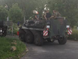 Bundeswehr mit schwerem Gerät beim Einsatz in Düsseldorf: Danke Jungs!