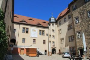 Innenhof der Burg Heldrungen heute
