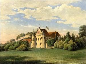 Die damalige Burg Clevenow um 1860 / Wikipedia / Sammlung Duncker / Gemeinfrei