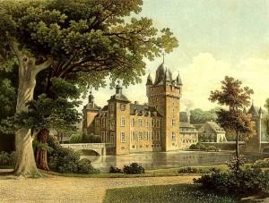 Schloss Harff um 1860 / Sammlung Duncker / gemeinfrei