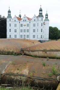Schloss Ahrensburg: Die Geotubes aus der Nähe