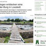 Burgreste in Loxstedt (Niedersachsen) entdeckt