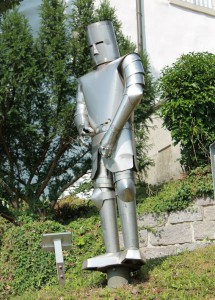 Ritter-Kunst vor Schloss Aulendorf